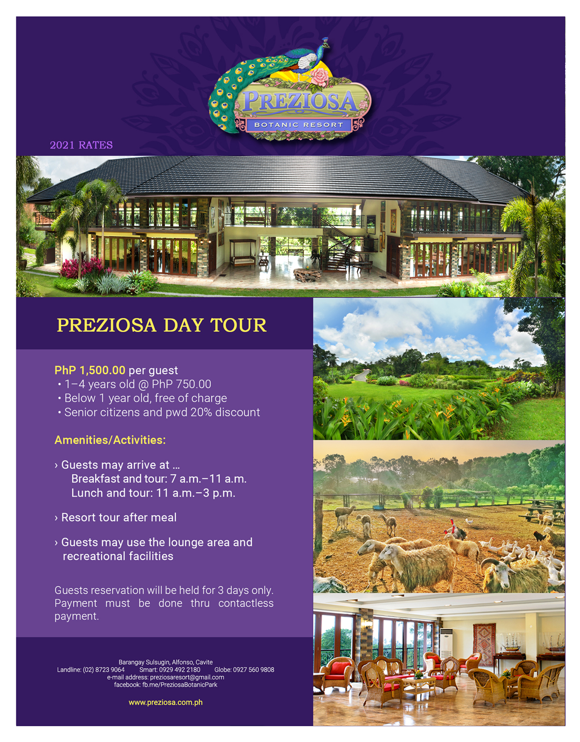 Day Tour Rate 0520-21